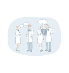 healthcare medicine medicare doctors vector image