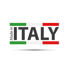 made in italy colored italian symbol vector image