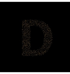 Magic D letter vector