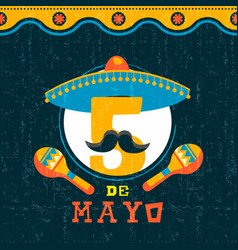 mexican cinco de mayo mariachi party poster vector image