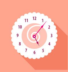 Modern wall numbered clock icon flat style vector