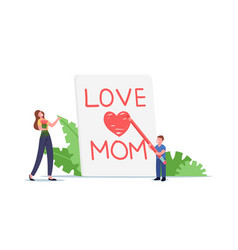 Mother day celebration concept tiny child vector