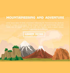 Mountaineering and outdoor adventure banner vector