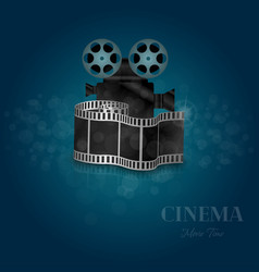 movie time realistic concept vector image