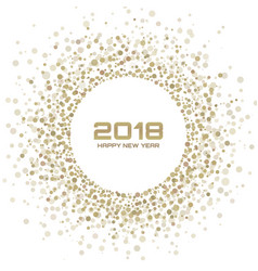 new year 2018 card gold light background vector image