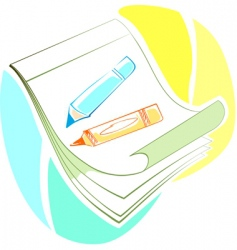paper and pen vector image
