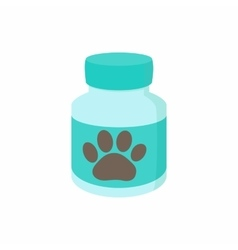 Pills for animals icon cartoon style vector
