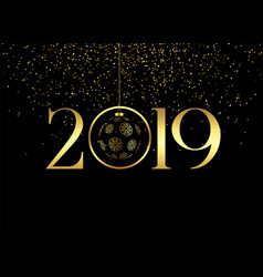 Premium happy new year 2019 background vector