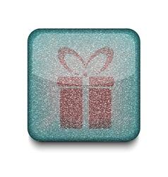 Present gift icon vector