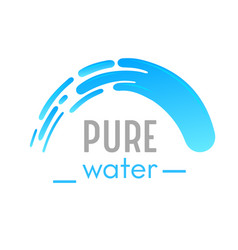 Pure water banner with waterfall cascade vector
