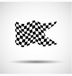 racing background checkered flag vector image