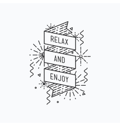 Relax and enjoy Inspirational summer vector