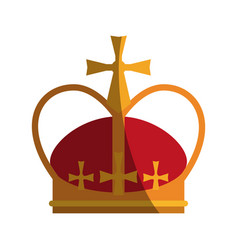 royalty crown icon image vector image