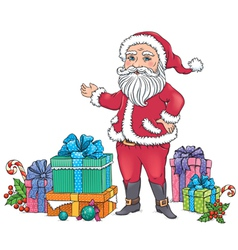 Santa Claus gifts vector image