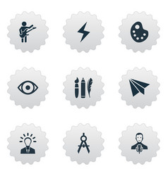 set of simple creative vector image