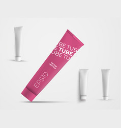 Set plastic tubes for skin care products vector