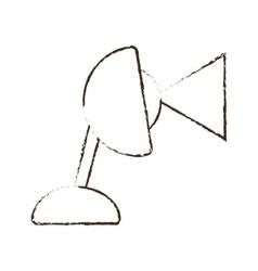 sketch draw lamp desk bulb light vector image