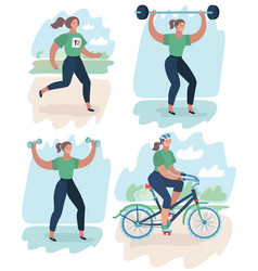 sport woman doing sports vector image