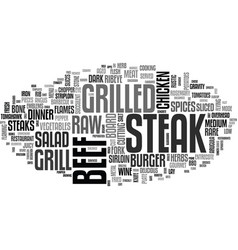 Steak word cloud concept vector
