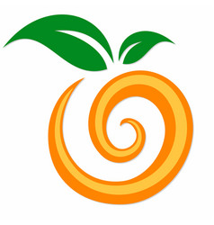 Symbol orange fruit vector