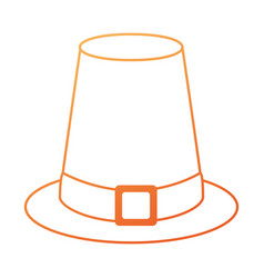 thanksgiving hat isolated icon vector image