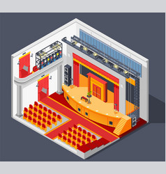 theatre interior composition vector image