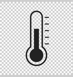 Thermometer icon goal flat on isolated background vector