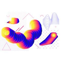 Universal gradient geometric shapes set vector