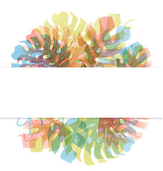 watercolor tropical palm leaf frame vector image