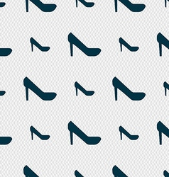 Woman shoes icon sign seamless pattern with vector