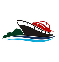 yacht charters island vector image