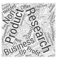 business plan for non profit school Word Cloud vector image vector image