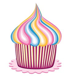 colorful cupcake vector image