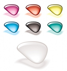 gel filled icons vector image
