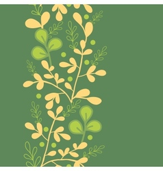 Green And Gold Leaves Vertical Seamless Pattern vector image vector image