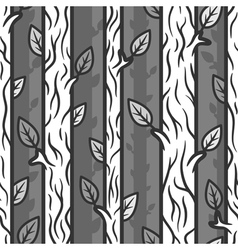 Seamless patterns with trees vector image vector image
