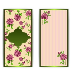 vertical greeting card vector image