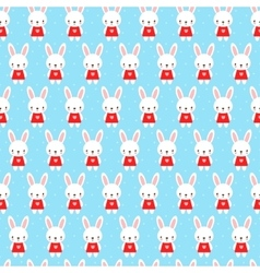 Cute childish seamless pattern with bunny vector image vector image