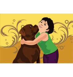 dog love vector image vector image