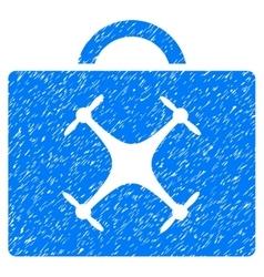 Drone toolbox grainy texture icon vector