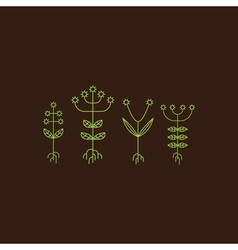 Flora Elements Eco Sign vector image vector image