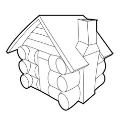 small hut icon outline style vector image