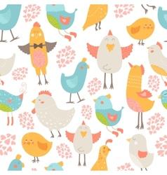 Cute birds collection vector image vector image