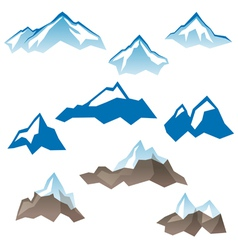 mountains icons vector image vector image