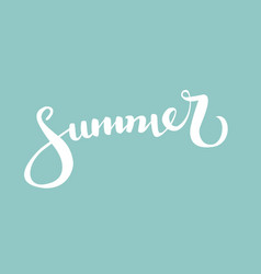 summerbrush handwritten lettering vector image