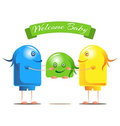 Welcome for the new baby vector image