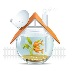 Aquarium home vector