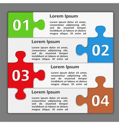 Design Template with Puzzle Pieces vector image vector image