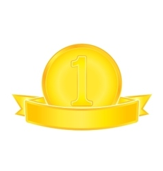 Gold medal number one vector image
