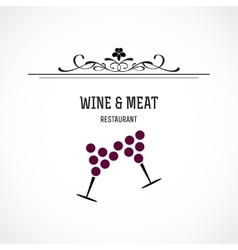 Wine and meat restaurant vector image